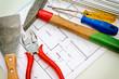 Grundriss und Werkzeug