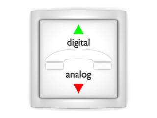 digital vs analog_Kommunikation - 3D