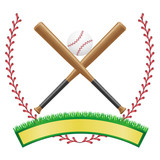 baseball banner emblem vector illustration