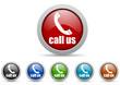 call us vector icon set