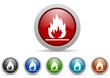 flames vector icon set