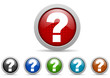 question mark vector icon set