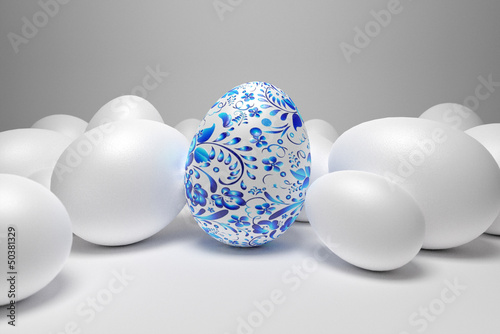 egg with patterns - 50381329