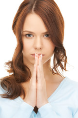 picture of young praying woman