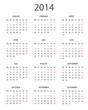 Kalender 2014 ohne Rahmen