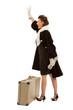 Dame auf Reisen
