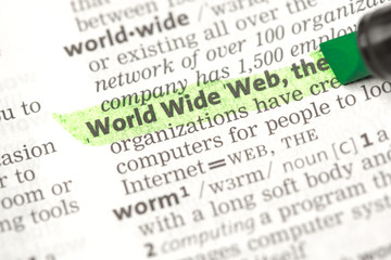 World Wide Web definition highlighted in green