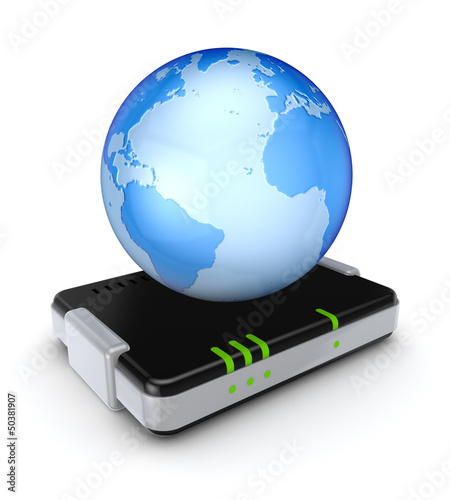 Earth on router.