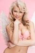 angel girl in underwear and wings