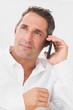 Portrait of man phoning