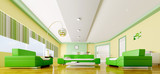 Interior of modern living room panorama 3d