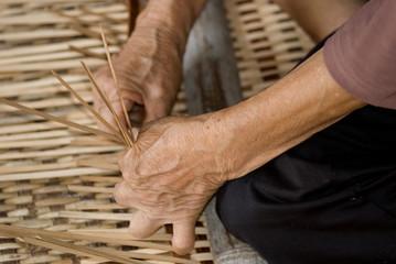Working with ratan, Annah Rais, Sarawak, Borneo, Malaysia