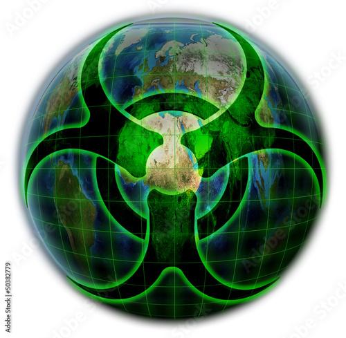 Постер, плакат: Биологическое загрязнение планеты Земля, холст на подрамнике