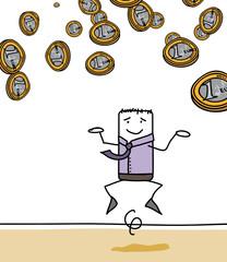 Pluie de pièces de 1 euro