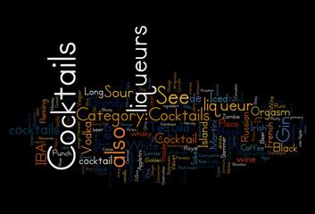 Cocktails Liqueurs concepts