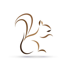 Vector logo squirrel