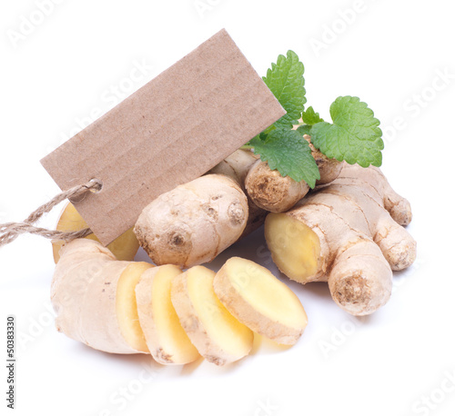 Ginger and label