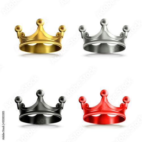 Multicolored crowns set