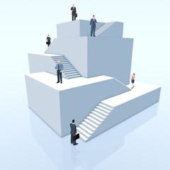Manager auf der Karriere-Pyramide - Illustration