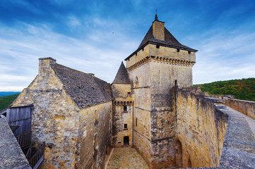 Medieval castle of castelnaud , dordogne,  France