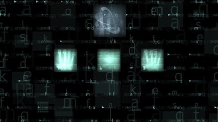 Medical backround with xray animation