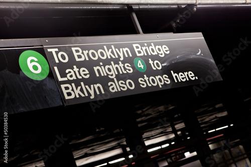 Brooklyn NYC Subway Sign