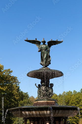 Central Park Fountain Statue