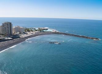 Beaches and hotels of Puerto de la Cruz, Tenerife