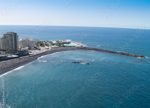 Beaches and hotels of Puerto de la Cruz, Tenerife