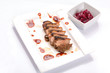 Roasted duck breast cranberry sauce