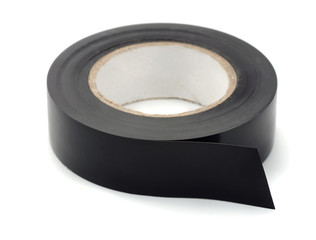 Roll of black plastic duct tape