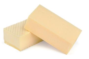 Two styrofoam insulation blocks