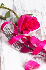 hochkant Besteck Rose