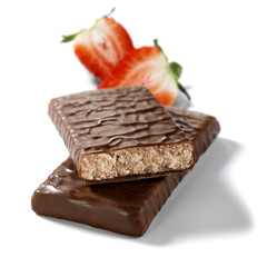 dietary choco bar with strawberry