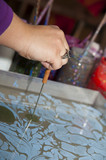 the process of making Ebru