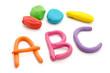 ABC aus Knetmasse