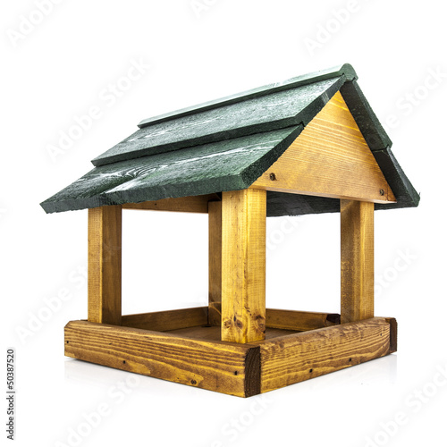 Wooden Bird House Feeder