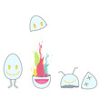 Cute eggs. Vector design.