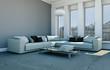modernes Sofa im Loft