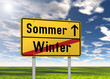 "Ortsschild ""Sommer / Winter"""