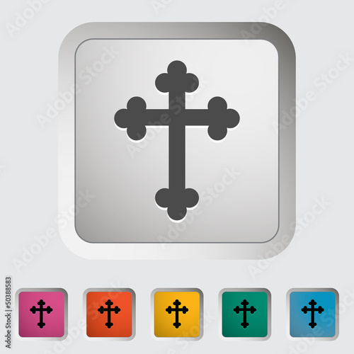 Cross  single icon. Vector illustration.