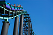 Leinwanddruck Bild - Roller Coaster Hill Incline