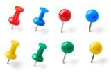 Fototapety push pin thumbtack paper clip office business