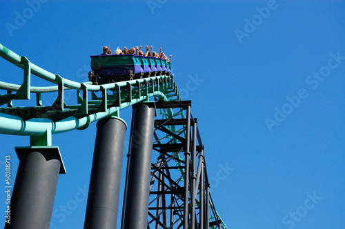 Roller Coaster Hill Incline - 50388713