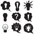 Speech bubbles with symbol idea