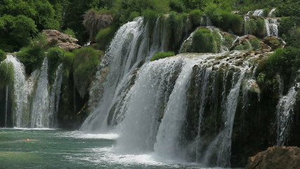 Skradinski Buk, waterfall in national park Krka, Croatia