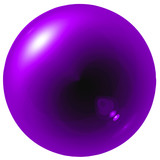 Glare purple ball