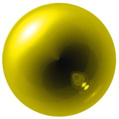 Glare yellow ball