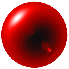 Glare red ball