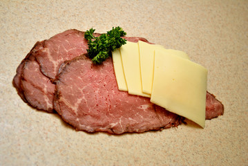 Roast Beef and Cheese Slices